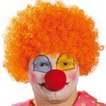 Fiestas Guirca Parrucca Clown Arancio Economica