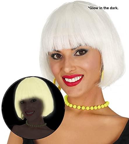 Parrucca caschetto bianca fluorescente