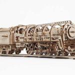 UGEARS 70012–Locomotive con Tender, Kit di Costruzione in Legno 3D Senza Colla