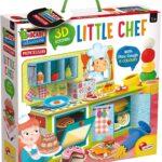Lisciani Giochi Montessori Little Chef 3D con Plastilina