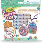 Crayola Glitter Dots – Set Portachiavi Brillanti Dolcetti, per Creare Portachiavi Scintillanti con il Glitter Modellabile, Attività Creativa e Idea Regalo, 04-1084