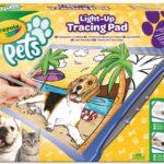 CRAYOLA Pets – Lavagnetta Luminosa, per disegnare il proprio cucciolo e creare divertenti scenette, 04-1034