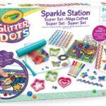 Crayola Glitter Dots – Sparkle Station Super Set, per Creare Scintillanti Decorazioni con il Glitter Modellabile, Attività Creativa e Idea Regalo, 04-1085