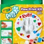 Crayola Pets – Set Crea l'Impronta, per trasformare l'impronta della zampina del tuo animale domestico in un oggetto decorativo da conservare per sempre, forma cerchio, 57-0202