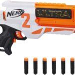 Hasbro Nerf Ultra Two Blaster Motorizzato, Retrocarica Rapida, 6 Dardi Nerf Ultra, Compatibile Solo con i Dardi Nerf Ultra