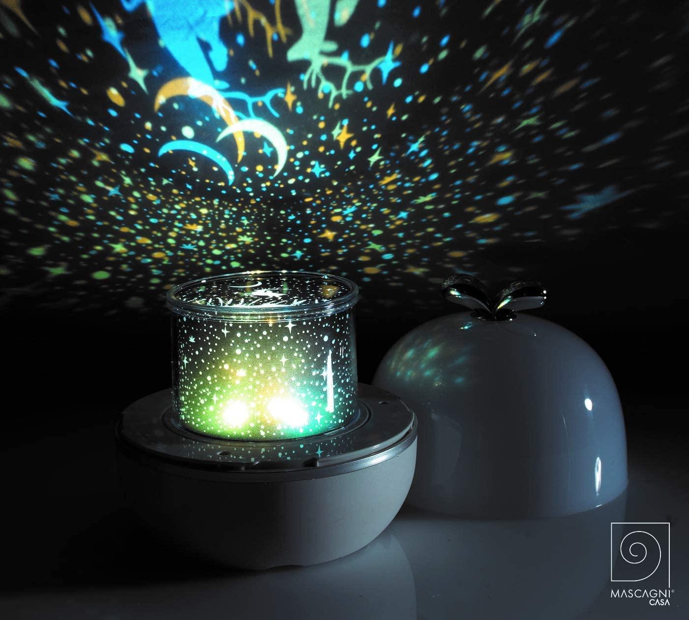 Lampada notturna DREAMS con proiettore rotante – Diam.13,5