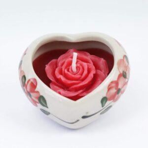 Candela a cuore con rosa Marca: iThai srls
