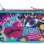 Selezione Cartoleria Varzi dal 1956 Astuccio Scuola Seven SJ Gang Facce SJ Girl 3 Zip Organizzato Completo